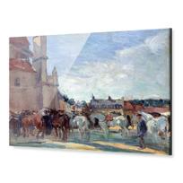 """Acrylic Print """"Le Marché aux chevaux à Falaise"""""""