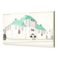 """Acrylic Print """"Projet pour une cité moderne: banque-caisse d'épargne"""""""