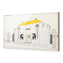 """Impression sous Acrylique """"Une cité moderne: musée"""""""