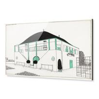 """Acrylic Print """"Projet pour une cité moderne: pavillon des sports"""""""