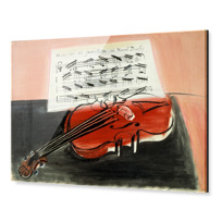 "Impression sous Acrylique ""Le Violon rouge"""