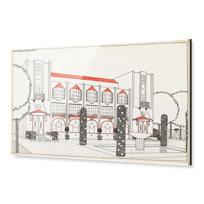 """Impression sous Acrylique """"Une cité moderne: hôtel de voyageurs"""""""