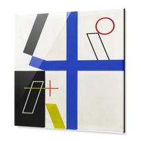 """Impression sous Acrylique """"Quatre espaces à croix brisée"""""""