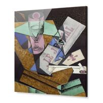 "Acrylic Print ""Verre et journal"""