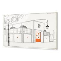 "Acrylic Print ""Garage d'autos"""