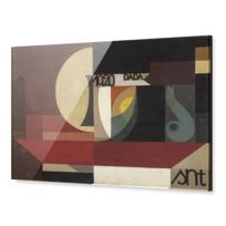 """Impression sous Acrylique """"Composition dada (Tête au plat) Autre titre: Fresco aus dem Zürcher Dada Pantheon"""""""