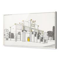 """Acrylic Print """"Une cité moderne: école primaire, garçons et filles"""""""