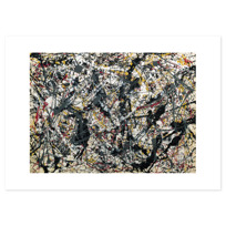 "Art Print ""Painting (Silver over Black, White, Yellow and Red)"""