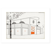 "Art Print ""Garage d'autos"""