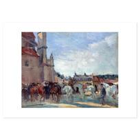 """Art Print """"Le Marché aux chevaux à Falaise"""""""