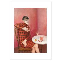 """Art Print """"Bildnis der Journalistin Sylvia von Harden"""""""