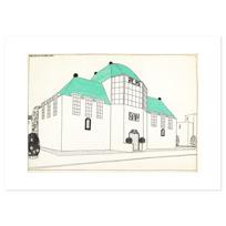 """Art Print """"Projet pour une cité moderne: banque-caisse d'épargne"""""""