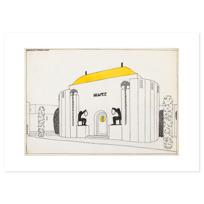 """Art Print """"Une cité moderne: musée"""""""