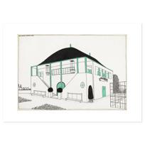"""Art Print """"Projet pour une cité moderne: pavillon des sports"""""""