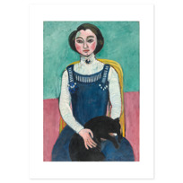 "Art Print ""Marguerite au chat noir"""