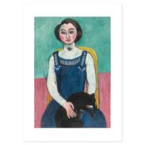 """Affiche """"Marguerite au chat noir"""""""