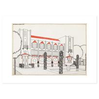 """Art Print """"Une cité moderne: hôtel de voyageurs"""""""