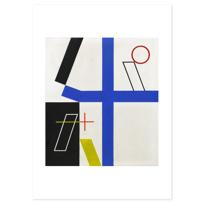 """Affiche """"Quatre espaces à croix brisée"""""""