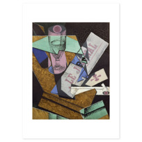 """Art Print """"Verre et journal"""""""