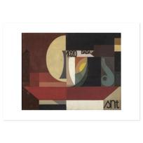 """Affiche """"Composition dada (Tête au plat) Autre titre: Fresco aus dem Zürcher Dada Pantheon"""""""