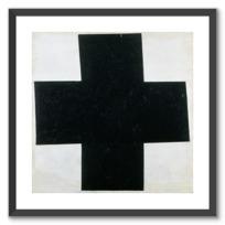 "Framed Art Print ""Croix  [noire]"""
