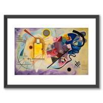 "Framed Art Print ""Gelb-Rot-Blau (Jaune-rouge-bleu)"""