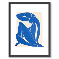 """Framed Art Print """"Nu bleu II"""""""
