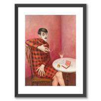 """Framed Art Print """"Bildnis der Journalistin Sylvia von Harden"""""""