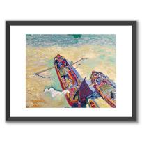 """Framed Art Print """"Les Deux Péniches"""""""