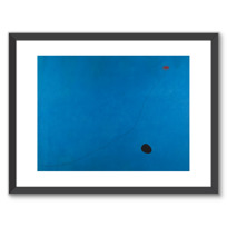 "Framed Art Print ""Bleu III"""