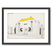 "Framed Art Print ""Une cité moderne: musée"""