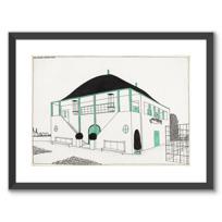 """Affiche Encadrée """"Projet pour une cité moderne: pavillon des sports"""""""