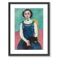 "Framed Art Print ""Marguerite au chat noir"""