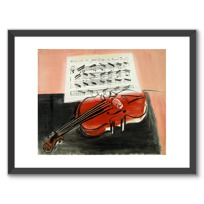 "Framed Art Print ""Le Violon rouge"""