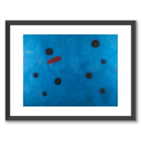 "Framed Art Print ""Bleu I"""