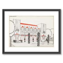 """Framed Art Print """"Une cité moderne: hôtel de voyageurs"""""""