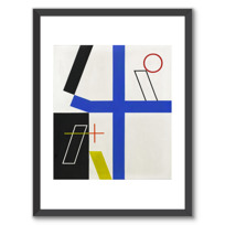 """Affiche Encadrée """"Quatre espaces à croix brisée"""""""
