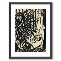 """Framed Art Print """"Nu debout, fougère noire"""""""