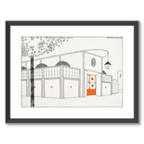 "Framed Art Print ""Garage d'autos"""