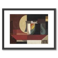 """Affiche Encadrée """"Composition dada (Tête au plat) Autre titre: Fresco aus dem Zürcher Dada Pantheon"""""""