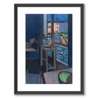 """Framed Art Print """"Intérieur, bocal de poissons rouges"""""""