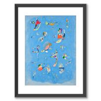 """Framed Art Print """"Bleu de ciel"""""""