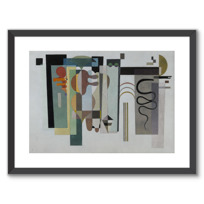 "Framed Art Print ""Deux points verts"""