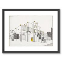 """Framed Art Print """"Une cité moderne: école primaire, garçons et filles"""""""