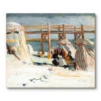 """Canvas Print """"L'Estacade à Sainte-Adresse"""""""