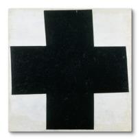 """Canvas Print """"Croix  [noire]"""""""