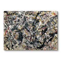 "Canvas Print ""Painting (Silver over Black, White, Yellow and Red)"""