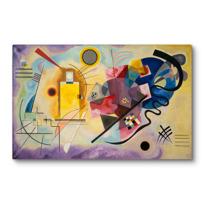 "Canvas Print ""Gelb-Rot-Blau (Jaune-rouge-bleu)"""