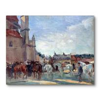 """Canvas Print """"Le Marché aux chevaux à Falaise"""""""