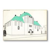 """Canvas Print """"Projet pour une cité moderne: banque-caisse d'épargne"""""""
